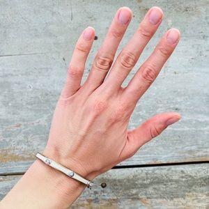 ♥️ Henri Bendel ♥️ Silver & White Bracelet